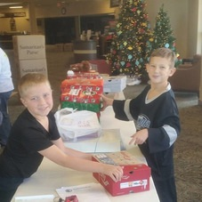 Wrapping Presents for Operation Christmas Child